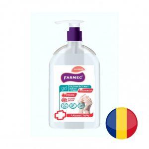 Gel Dezinfectant maini cu alcool 70% si glicerina Farmec, 500ml